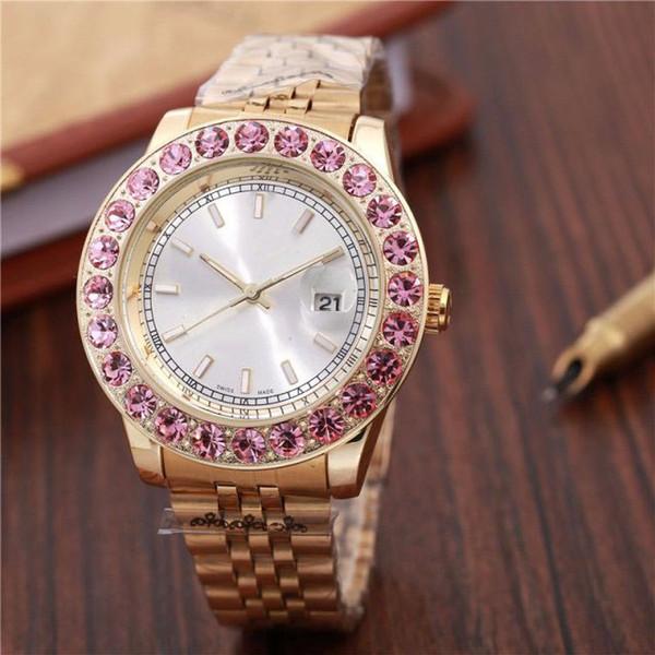 44 MM reloj de diamantes relogio masculino relojes para hombre Diseñador de moda de lujo Negro Dial Calendario Pulsera de oro Broche plegable Maestro Masculino