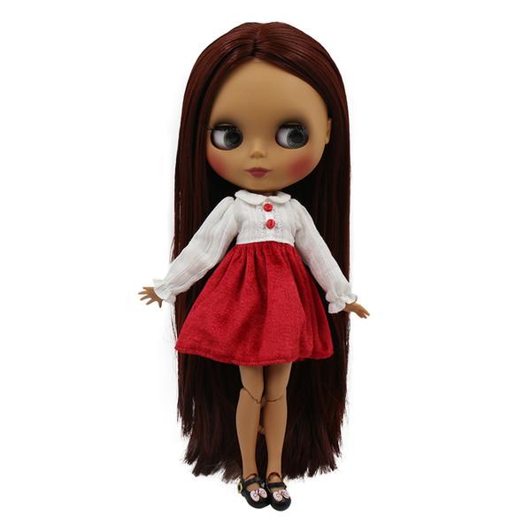 Großhandel Blyth Puppe 30 Cm Dunkle Haut Matte Shell Schöne Helle Farbe Mischfarbe Haar 16 Joint Körper Icy Sd Diy Hochwertige Spielzeug Geschenk Von