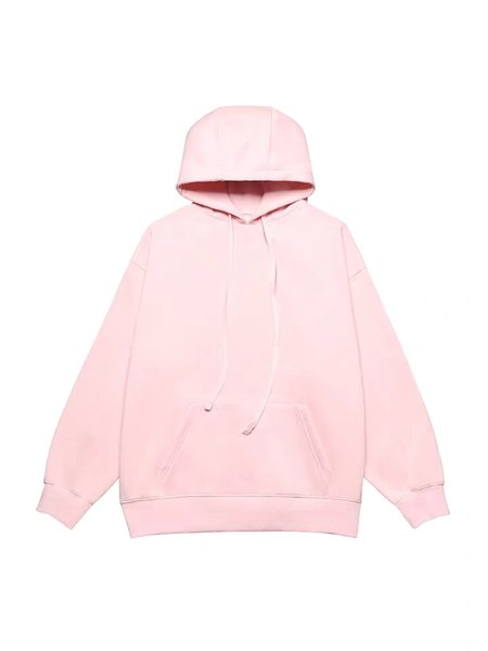Spring 2019 new loose-fitting medium length plush heavy hoodie students matching sweatshit winter sweatshit with hat