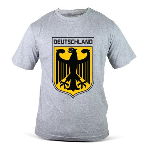 1804-Gy Germany German Podolski Factory Outlet World Cup Football Soccer Grey Men T-Shirt T Shirt Men Boy Funny Short Sleeve Cotton Custom B