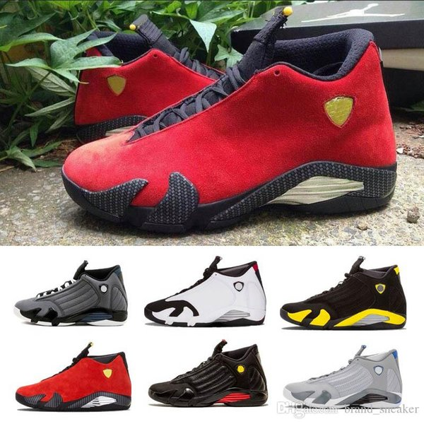 Classical 14 Red 14s Basketball Shoes Men Fusion Purple last shot Black Fusion Varsity Brand Fashion XIV Playoffs Sneakers Eur Size 41-47