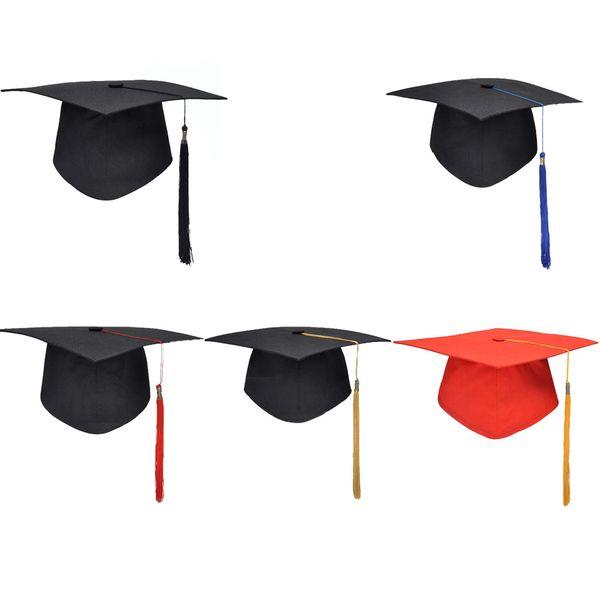 Compre Escuela Unisex Fiesta De Graduación Borlas Gorra Birrete Universitarios Licenciatura Maestro Doctor Académico Sombrero A 603 Del Vitaminlf