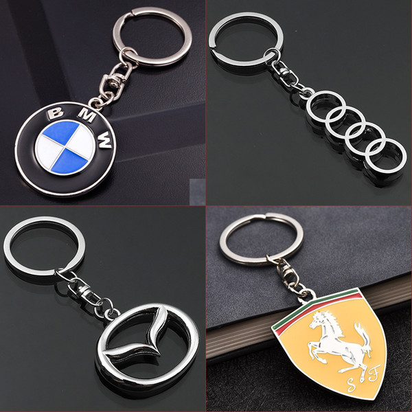 2 Pieces Fashion Metal Car Keyring Keychain For BMW Auto Key Chain Car-styling Key Ring Automotive Keyfob Pendant for Gift Car Accessories