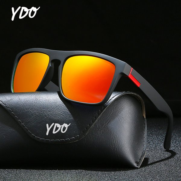 YDO Men Sunglasses Polarized 2019 New Fashion Mirror Resistant Lens Elastic Rubber Paint Frame Summer Sport Sun glasses