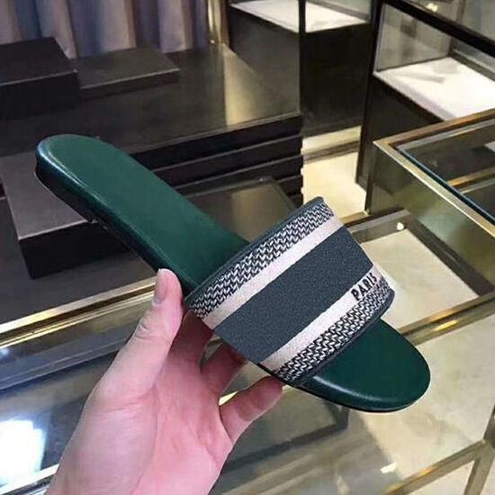 top popular fashion designer women shoes designer Slides sandals lady wedge sandals for women letter sandals classic designer woman beach shoes 35-41 2020