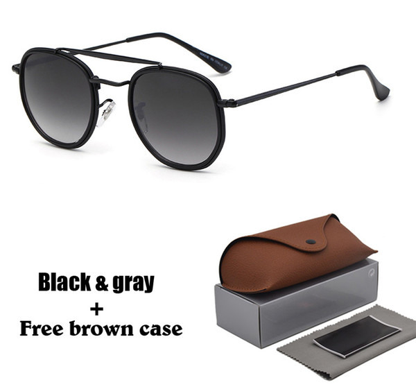 1pcs brand designer sunglasses for men woman sun glasses vintage hexagonal metal frame reflective coating eyewear with case and box thumbnail