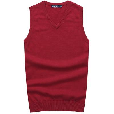 New Men Polo Sweaters Mens High Quality Cotton Vest Jacket Sweaters color black navy red beige browSweaters color black navy red beige brown