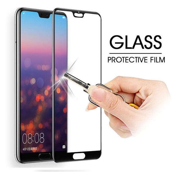 Protetora de vidro no para huawei p20 lite p20 pro protetor de tela temperado 0.26mm 2.5d borda de vidro para huawei lite film