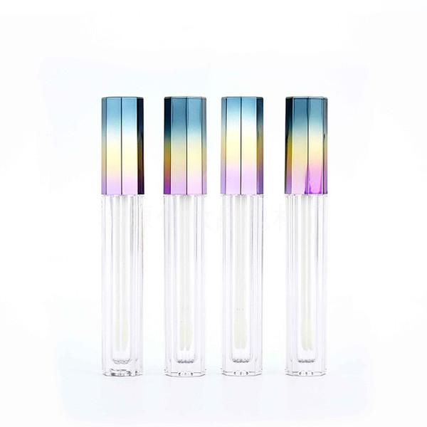 5 ML Vacío Octagonal 3 Color Gradient Lip Gloss Tube Lipgloss Tube DIY Gradient Lipstick Container Envío gratis