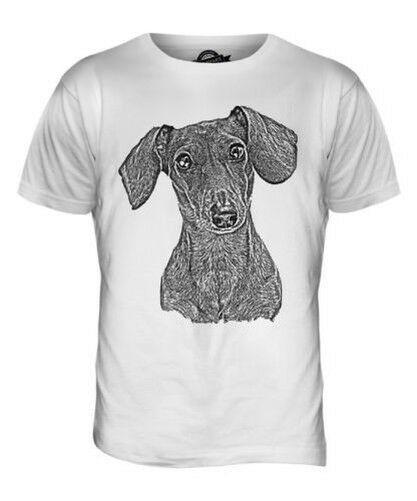 DACHSHUND SKETCH MENS PRINTED T-SHIRT TOP GREAT GIFT FOR DOG LOVER SAUSAGE DOG Harajuku Summer 2018 Tshirt Hoodie Hip Hop T-shirt