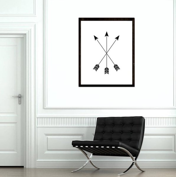 Tribal Arrows Canvas Print poster Room decor,Graphic black white hipster Canvas painting Wall Decor pictures