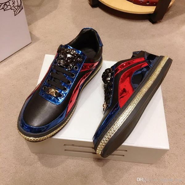 novos de luxo de qualidade superior Homens Mulheres Sapatos casuais Genuine 647