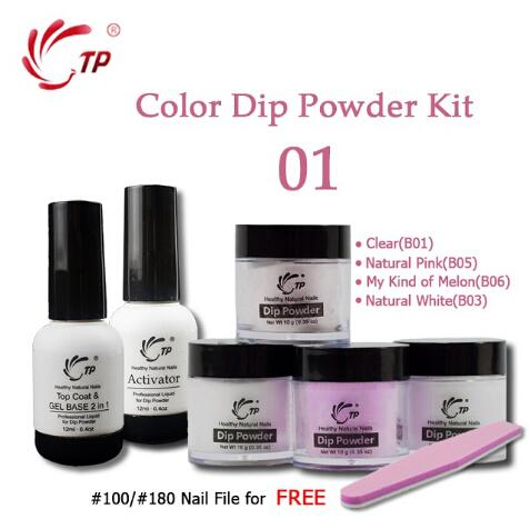 top popular Nail Dipping Nails Set French Manicure Kit 2 + 4 Powders Base & Top Gel Activator Dip Nails Natural Dry 2020