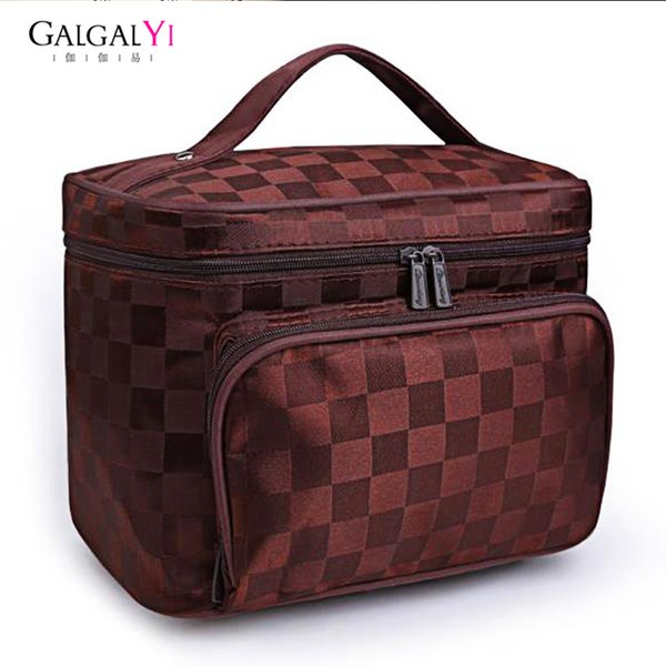 GALGALYI 2018 Luxury Cosmetic Bag Professional Makeup Bag Travel Organizer Case Beauty Necessary Make up Storage Beautician Box Y181122