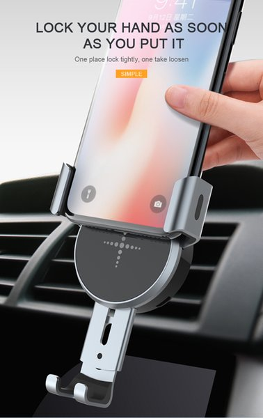 Wireless Car Charger Navigation Stand Can be horizontal and vertical, own retractable patent, easy to use charger