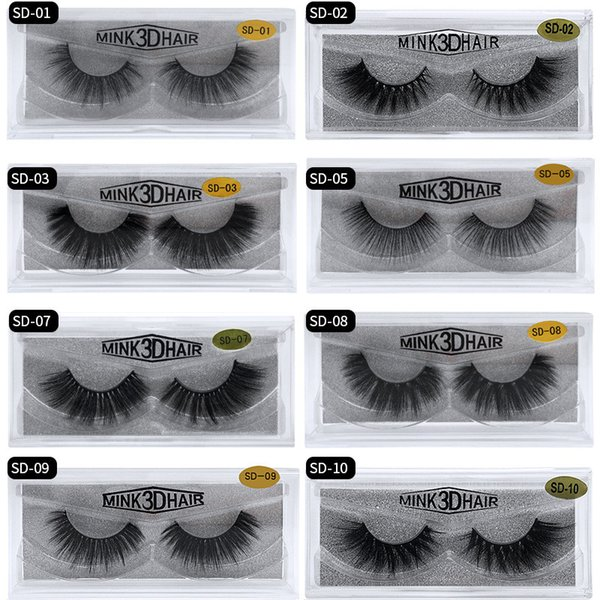 In Stock 3D Mink Eyelashes Eye makeup Mink False lashes Thick Fake Eyelashes 3D Eye Lashes Extension Beauty Tools 17 styles Mink Lashes