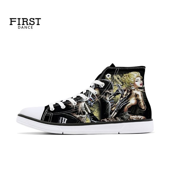 3306d6090a Custom Shoes Your Logo Spring Adult Unisex Lace Up Women Casual Sneaker  Lightweight Girl s Canvas High