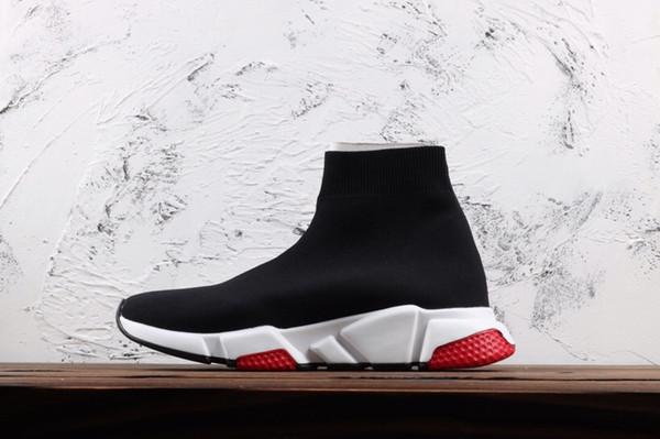 Compre 2019 Zapatos De Diseñador Speed Runner Trainer ACE Bee Negro Rojo Zapatillas BB Hombre Zapatos De Mujer Sneaker Trainer Calcetín Al Aire