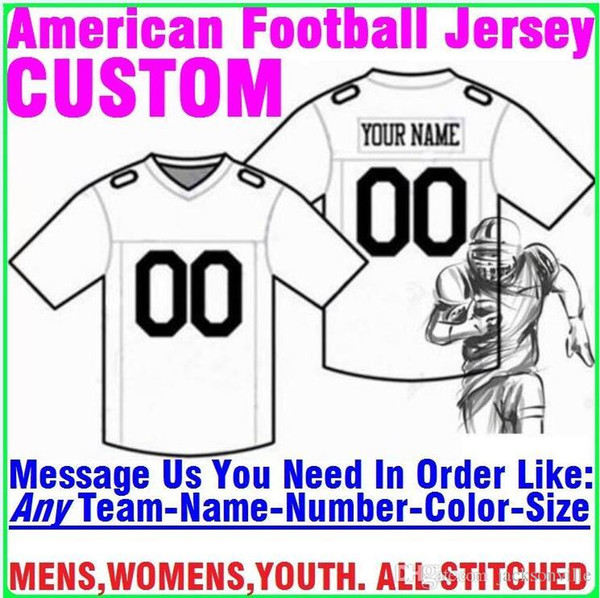 best selling Personalized american football jerseys Custom Tennessee Denver college authentic cheap baseball basketball mens womens youth USA 4xl limited