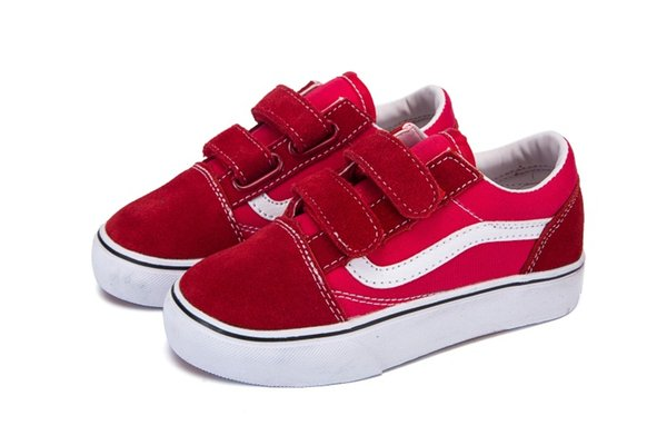 Großhandel Vans Old Skool Low Top CLASSICS 2019 Neue Marke Kinder Casual Schuhe Jugend Jungen Mädchen Turnschuhe Laufschuhe Baby Kinder Turnschuhe