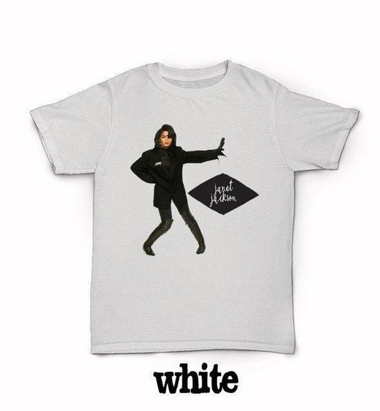 Janet Jackson T Shirt 90'S R&B World Tour Rhythm Nation When I Think Of You  Funny Clothing Casual Short Sleeve Tshirts That T Shirt But T Shirts From