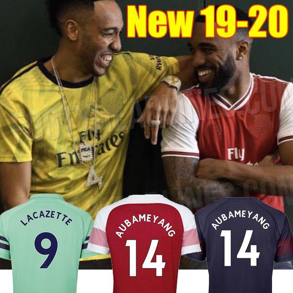 brand new 68b19 4c106 2019 Thailand Aubameyang Soccer Jerseys 18 19 20 AUBAMEYANG OZIL JERSEY  2019 2020 LACAZETTE Football Kit Top MEN And KIDS SET Soccer Shirt From ...