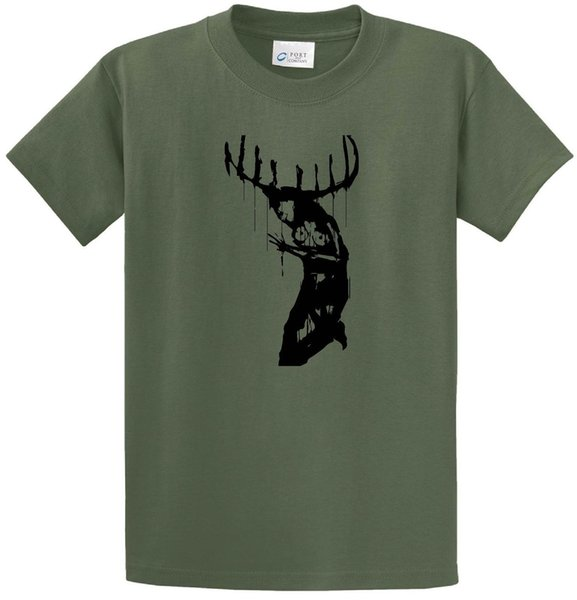 True Detective Girl With Antlers Painting T-Shirt Short Sleeve Cool #Street WearMen Women Unisex Fashion tshirt Free Shipping