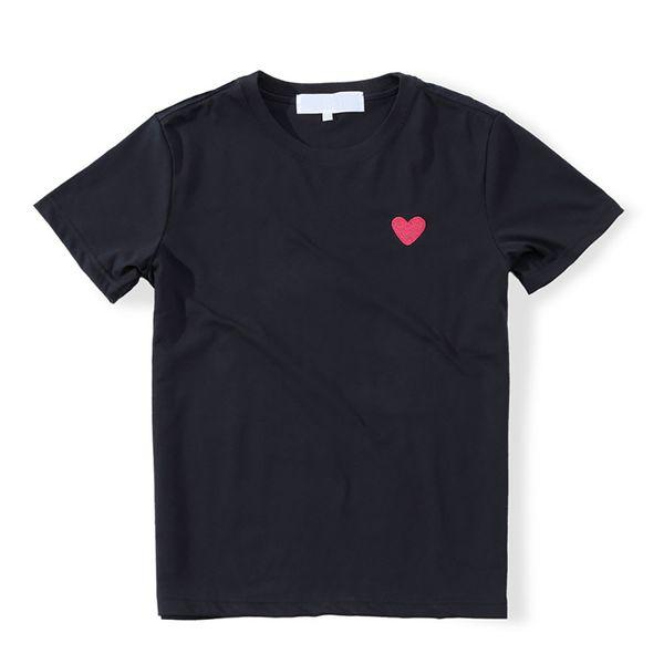 ИГРАТЬ Мужчина Марк T-рубашка Маленькой красных сердец вышивки Пара Простых моды Wild основывая рубашки удобный вскользь лето хлопок верха