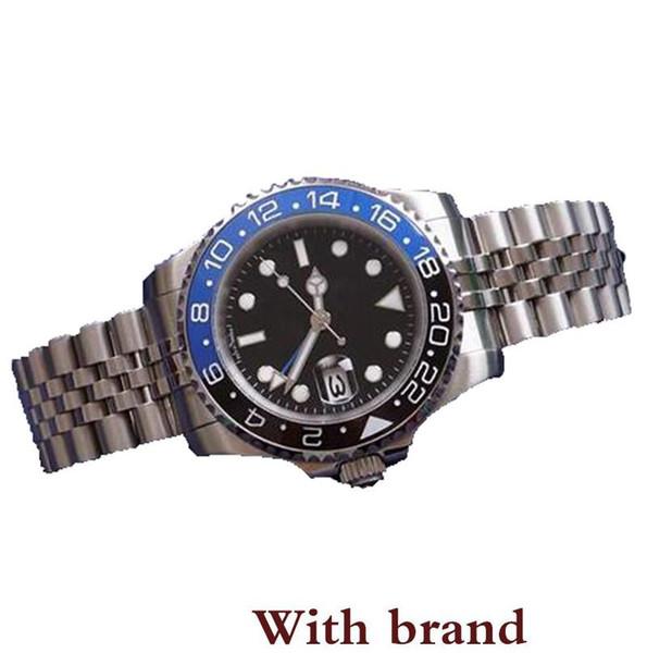 2019 Venda Mens Relógio de Pulso Azul Preto Moldura de Cerâmica Relógio de Aço Inoxidável 116710 Movimento Automático Limited Watch Jubilee Master