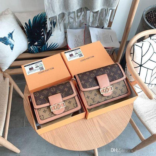 2020 alta qualità di modo delle borse delle donne SIGNORE design solido Colore alfabeto RICAMO bracciale a catena PORTAFOGLIO PELLE TRACOLLA BORSE A550