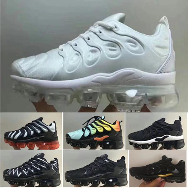 Acheter 2019 Jeunes Enfants TN Plus Designer Sports Chaussures De Course Enfants Garçon Filles Baskets Tn VM Sneakers Classique En Plein Air En Plein