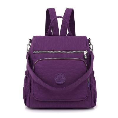 The new Oxford cloth backpack women washed nylon bag light cross-border multifunctional package #1146