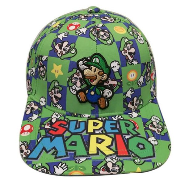 DHL Super Mario Bros chapéu Jogo Anime Cosplay Adulto Chapéu Ajustável Snapback Chapéu De Beisebol bordar hip hop bonés de beisebol