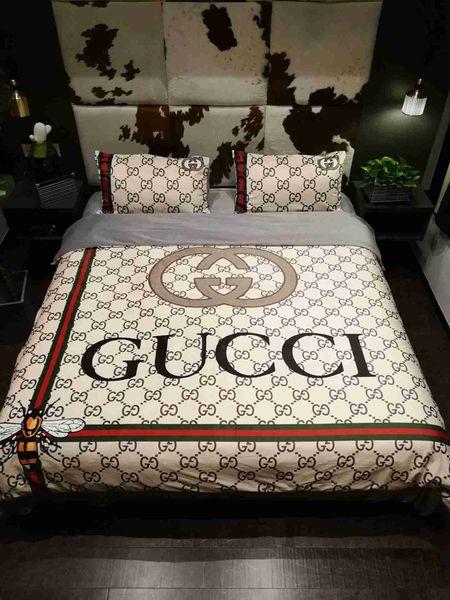Luxusbettwäschesätze des Designers König oder Königingrößenbettwäschesätze Bettlaken 4pcs Deckbettluxusbettdeckensätze