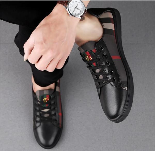 Primavera Itália Nova Moda Alta Top Homens Sapatos Casuais Sapatilhas Sapatos De Luxo Designer de Sapato de Caminhada Plana Vestido de Festa Sapato de Casamento 38-44
