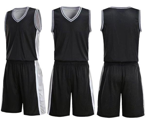 Top homens em branco dupla face time de basquete Uniformes kits roupas esportivas roupas, Personalidade Personalizado Basquete Conjuntos tops Com Shorts