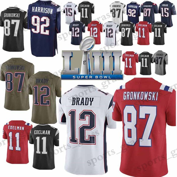 brand new 172d0 46c8f 2019 Men New Patriot Jersey 92 James Harrison 87 Rob Gronkowski 11 Julian  Edelman 12 Tom Brady Jerseys 2019 New From Sports_grass, $23.5 | DHgate.Com