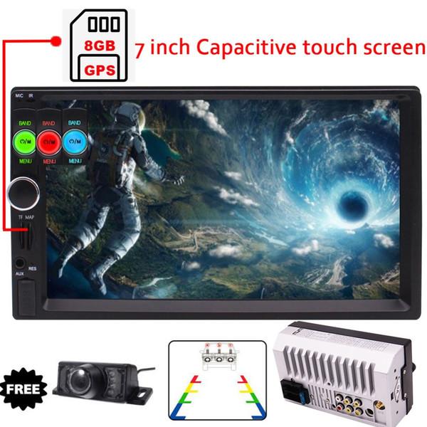PC Auto GPS Stereo MP5 / MP4 / MP3 Player FM Radio Car Audio Bluetooth Supporto GPS con mappa Carta retrocamera posteriore opzionale