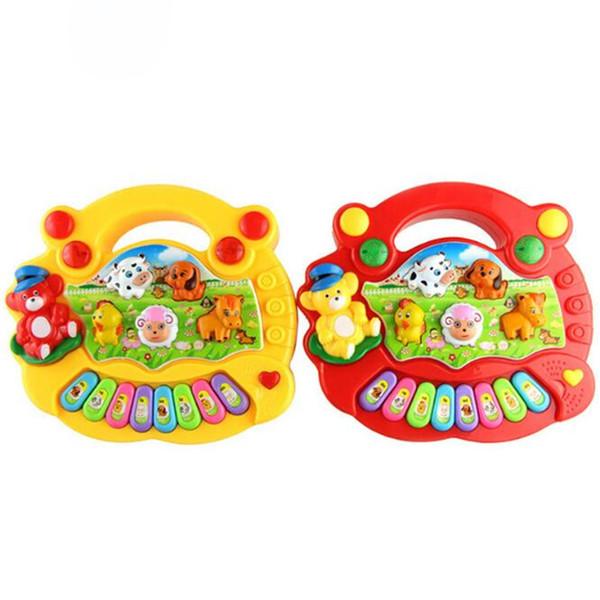 Hot Sale Musical Instrument Toy Baby Kids Animal Farm Piano Developmental Music Educational Toys For Children Gift DHL FJ325