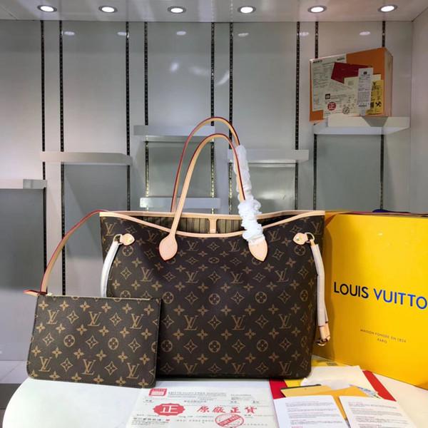 5A L Plaid # 5851 Moda Couro Bolsas Mulheres Tote Bolsas Composite Bag Lady embreagem ombro Totes Feminino Bolsa com carteira