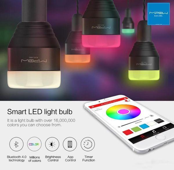 Nuovo MIPOW Bluetooth Smart LED Lampadine APP Smartphone Gruppo controllato colore dimmerabile che cambia le luci decorative del partito