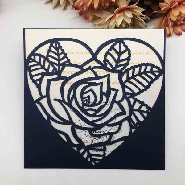 Hollow Laser Cut Wedding Invitations Cards Party Events Garden Flower Invitations Valentine S Day Gifts Cards Supplies Wedding Invitation Templates