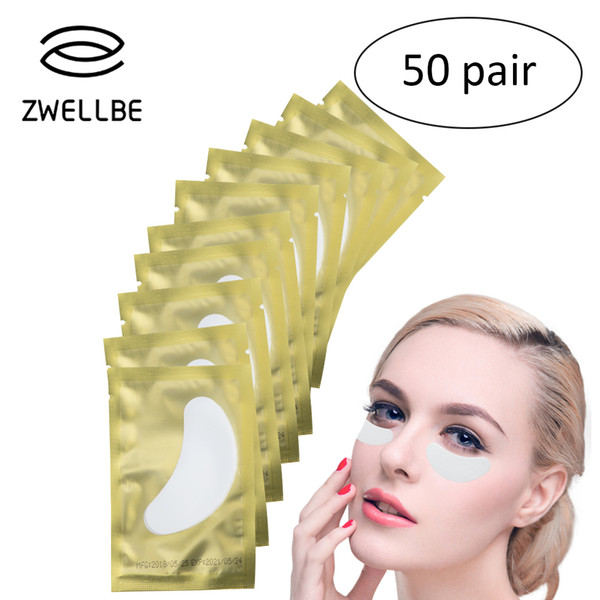 50 Pairs/Pack Disposable Eye Pads Patch For Eyelash Extension Under Eye Tips Sticker Wraps Beauty Makeup Tools