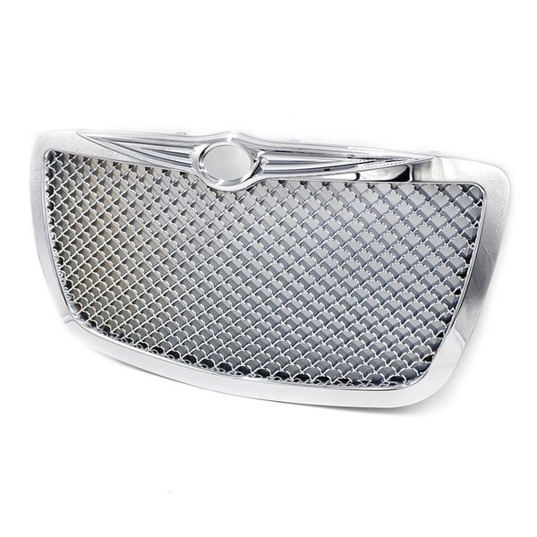 Racing Car front Grills for 2004 2005-2010 Chrysler 300 300C Limited Touring Chrome Hood Grill Mesh Grille