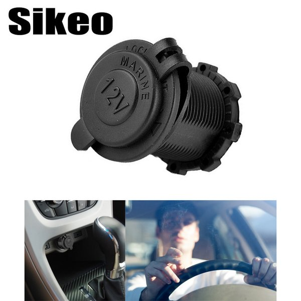 1pcs Auto Car Cigarette Lighter Socket 12V Waterproof Car Boat Motorcycle Cigarette Lighter Sockets Splitter Power Plug Outlet