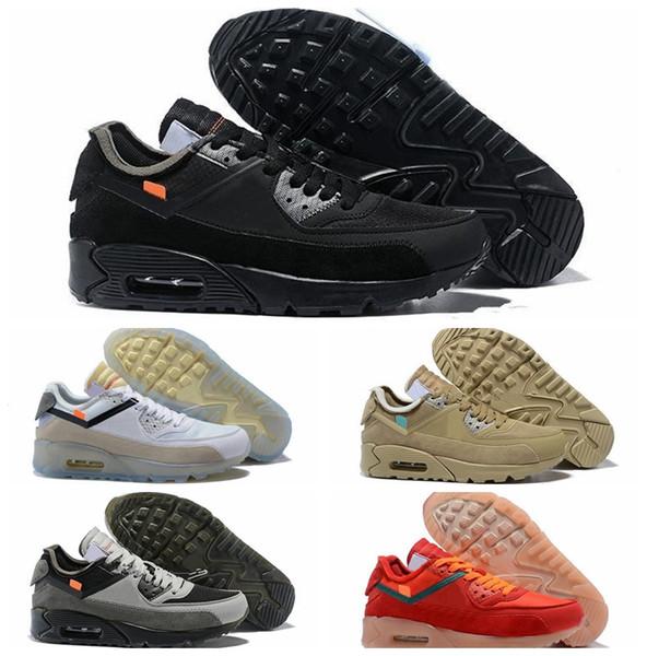 NIKE 2019 novo designer off shoes 90 v2 desert minério tênis de corrida dos homens tênis de corrida ao ar livre sapato jogging top quality com caixa aa7293-200