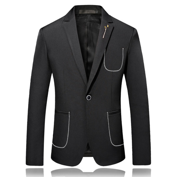 Men Blazer Jackets Slim Fit Suits Jackets And Coats New Male Wedding Dress Formal Wear Suits High Quality Blazers Solid dsy092