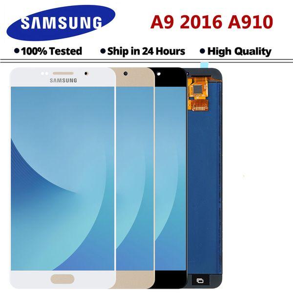 A910 Lcd Pour Samsung Galaxy A9 Pro Lcd Avec Écran Tactile Digitizer Assemblée A9 2016 A9000 A900 Affichage Ypf27-53