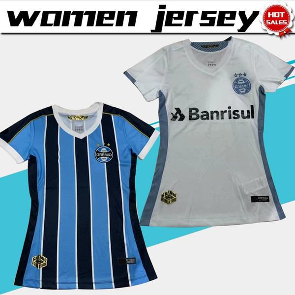 Women Jersey 2020 Gremio soccer Jerseys 19/20 Female home blue Soccer Shirts Gremio away white Football Uniforms On sale