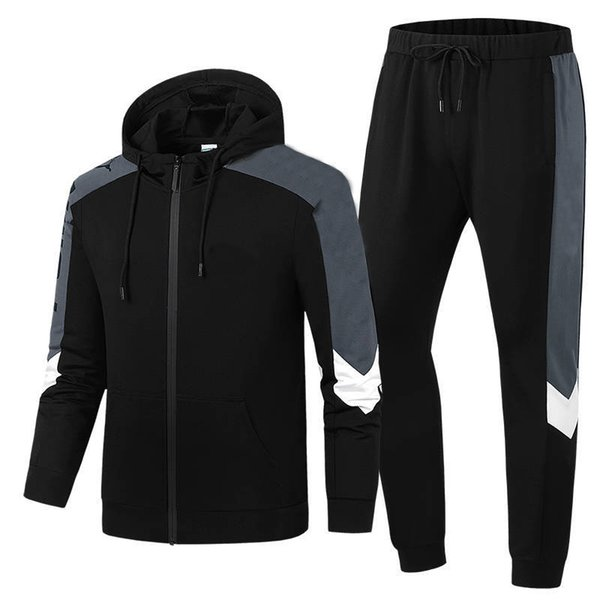 e58bec2474 2019 Designer Men Sports Suit Tracksuit 2019 New Brand Two Pieces Fashion  Sportwears Street Style Long Sleeve&Pants Brand Letters Clothes From ...